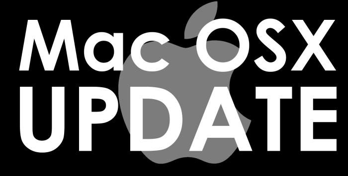 Mac osx update_blog