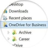 One Drive screenshot