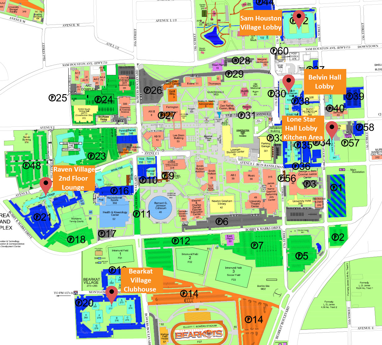 sam houston state university campus map Networking It Sam sam houston state university campus map
